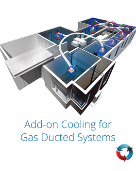 add-on cooling for ducted heating